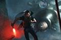 Картинка фантастика, пришелец, мужчина, Half-Life, бежит, fan art