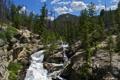 Картинка деревья, горы, природа, парк, фото, США, водопады