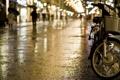Картинка город, дождь, вечер, bike