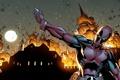 Картинка взрыв, огонь, marvel, комикс, comics, deadpool, heroes