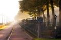 Картинка дорога, улица, забор, Город