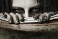 Картинка глаза, взгляд, холст, грязные ногти