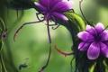 Картинка цветок, муха, дерево, монстр, хищник, ветка, арт