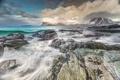 Картинка море, небо, облака, камни, берег, побережье