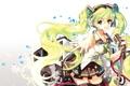 Картинка девушка, аниме, микрофон, Hatsune Miku, Vocaloid, art, Platina77