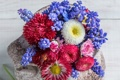 Картинка лепестки, ваза, цветочки