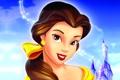 Картинка небо, замок, мультфильм, сказка, Walt Disney, красавица и чудовище, Бэль