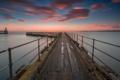 Картинка sunset, cloud, pier, see