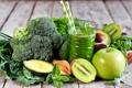 Картинка мята, шпинат, брокколи, яблоко, сок, авокадо, овощи