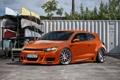Картинка оранжевый, тюнинг, volkswagen, Scirocco