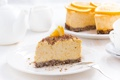 Картинка апельсины, торт, чизкейк