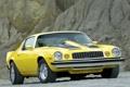Картинка желтый, мускул кар, классика, camaro, chevrolet, Muscle car, 1974
