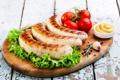Картинка помидоры, колбаса, салат, специи, tomatoes, meat, spices