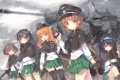 Картинка оружие, девушки, танк, форма, north abyssor, girls und panzer, nishizumi miho