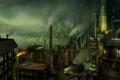 Картинка фабрика, город, трубы, рабочие, гавань, Завод, дым