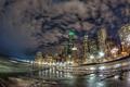 Картинка ночь, огни, небоскребы, Чикаго, United States, Chicago, Illinois