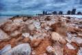 Картинка зима, берег, здания, небоскребы, америка, чикаго, Chicago