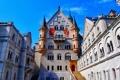 Картинка небо, замок, Германия, Бавария, Нойшванштайн, башенка