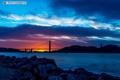 Картинка солнце, закат, Мост