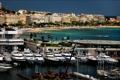Картинка побережье, Франция, дома, яхты, катера, причалы, море.пляж
