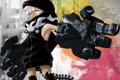 Картинка взгляд, оружие, Девушка, шарф, хвост, black rock shooter, strength