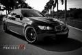 Картинка пальмы, белая, black, черно, BMW M3