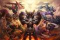 Картинка меч, доспехи, воин, лук, лучница, стрелы, team