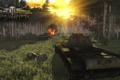 Картинка лес, тигр, арт, Tiger, танки, WoT, World of Tanks