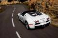 Картинка Дорога, Белый, Машина, Bugatti, Veyron, Спорткар, В Движении