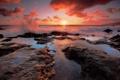 Картинка море, небо, закат, брызги