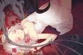 Картинка девушка, цветы, череп, монстр, демон, арт, скелет