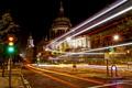 Картинка выдержка, город, лондон, ночь, свет, англия, улица