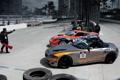 Картинка formula drift, long beach 2011, Nissan 370z vs. BMW Z4
