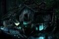 Картинка лес, тигр, фантастика, растение