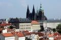 Картинка небо, дома, Прага, Чехия, собор Святого Вита, пражский град