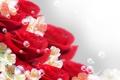 Картинка цветы, пузыри, bubbles, цветочки, flowers, розы красные, roses are red