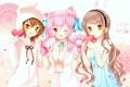 Картинка кошка, грудь, девушка, лапки, аниме, кролик, костюм