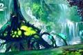 Картинка деревья, растение, арт, online, art, guild wars 2, mmorpg