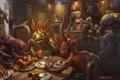 Картинка еда, starcraft, Blizzard, выпивка, персонажи, world of warcraft, кабак