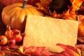 Картинка осень, листья, ягоды, тыква