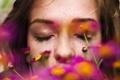 Картинка девушка, макро, цветы