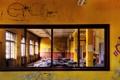 Картинка отражение, стена, граффити, зеркало