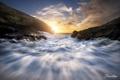 Картинка волны, океан, скалы, утро