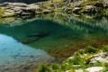 Картинка трава, вода, озеро, камни