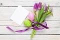 Картинка цветы, яйца, Пасха, тюльпаны, flowers, tulips, spring