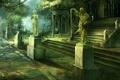 Картинка город, статуи, дворец