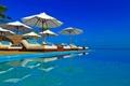 Картинка pool, beautiful, parasols, sun beds