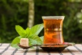 Картинка листья, чай, ложка, сахар, мята