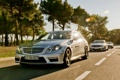 Картинка деревья, блики, Mercedes-Benz, серебристый, мерседес, AMG, SLS