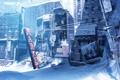 Картинка снег, город, руины, заброшенность, постапокалиптика, Lost Planet